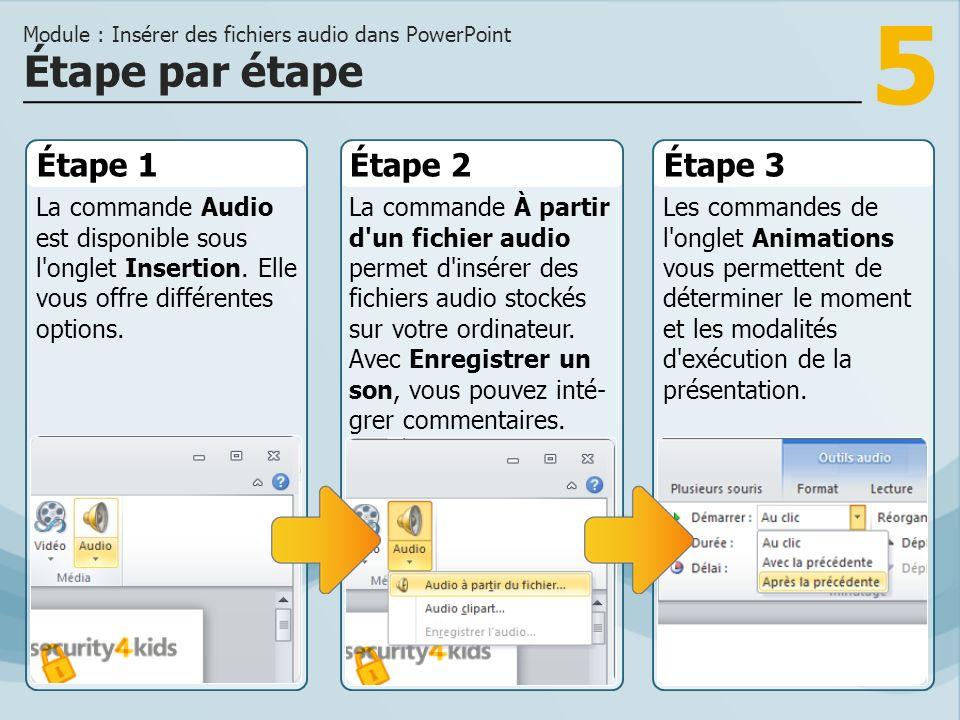 Module : Insérer des fichiers audio dans PowerPoint