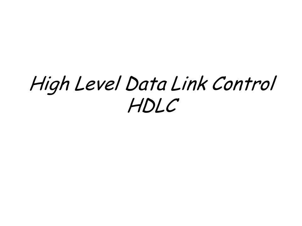 High Level Data Link Control HDLC