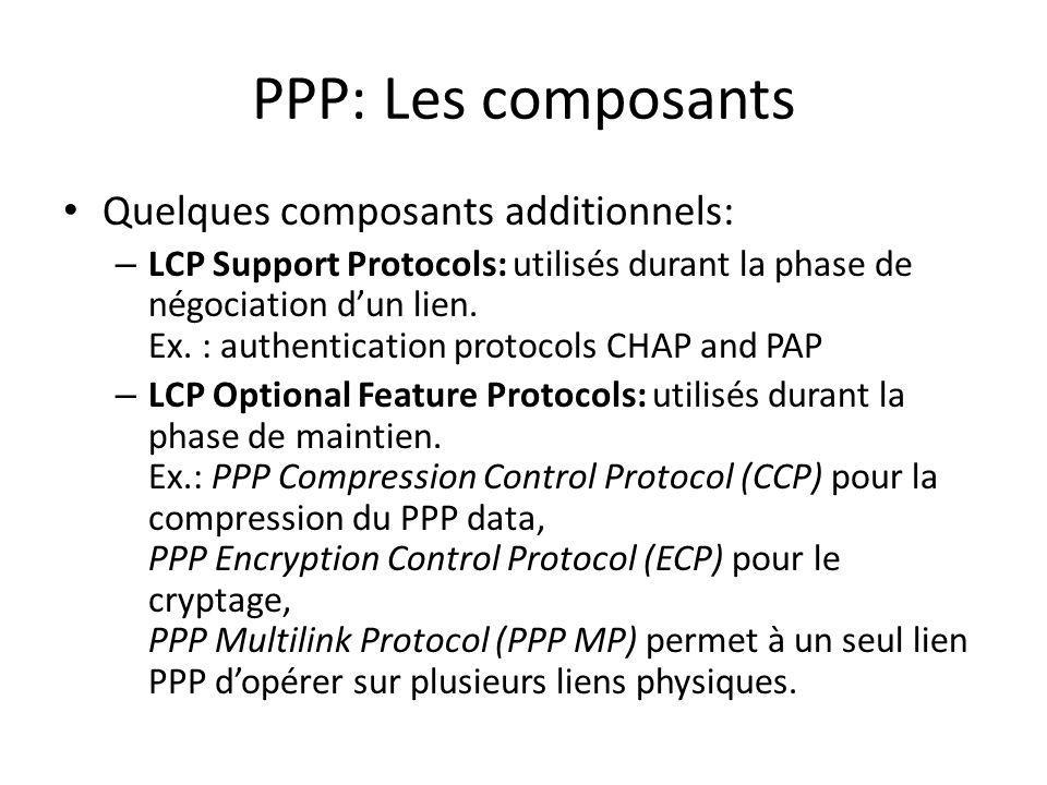 PPP: Les composants Quelques composants additionnels: