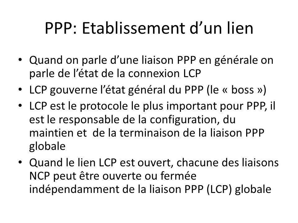 PPP: Etablissement d'un lien