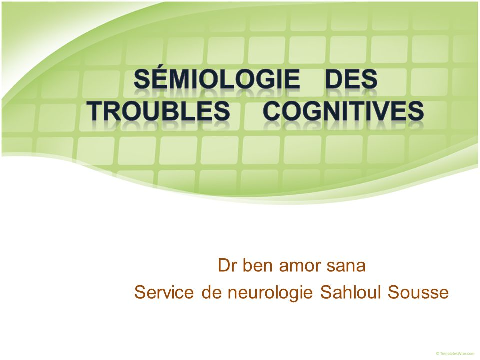 Dr ben amor sana Service de neurologie Sahloul Sousse