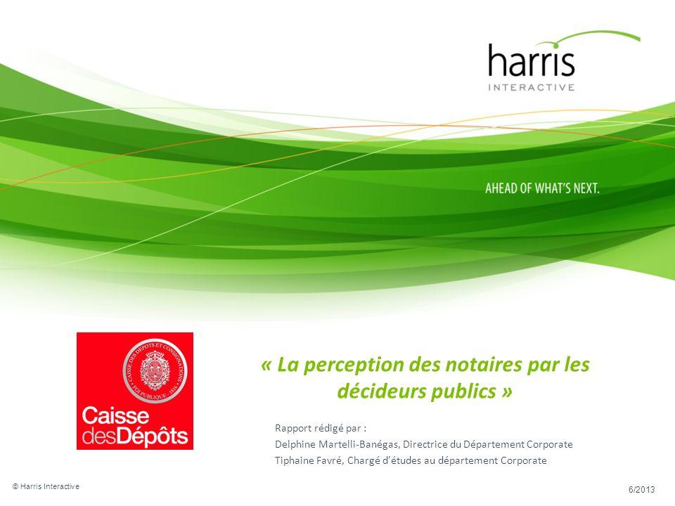 « La perception des notaires par les décideurs publics »