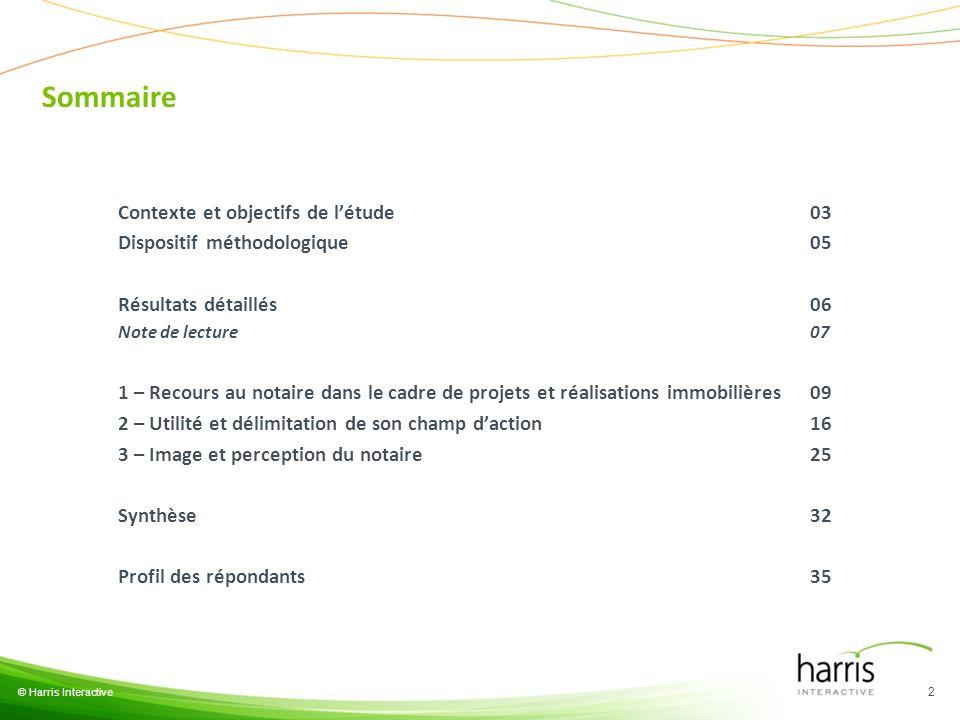 Sommaire Contexte et objectifs de l'étude 03
