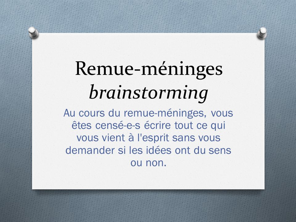 Remue-méninges brainstorming
