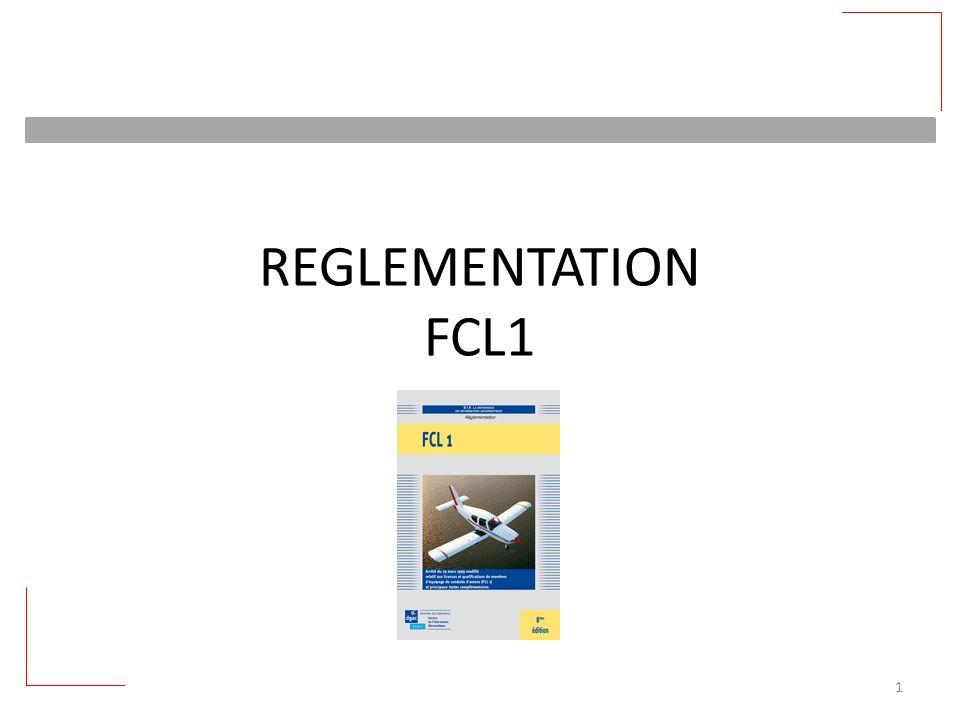 REGLEMENTATION FCL1