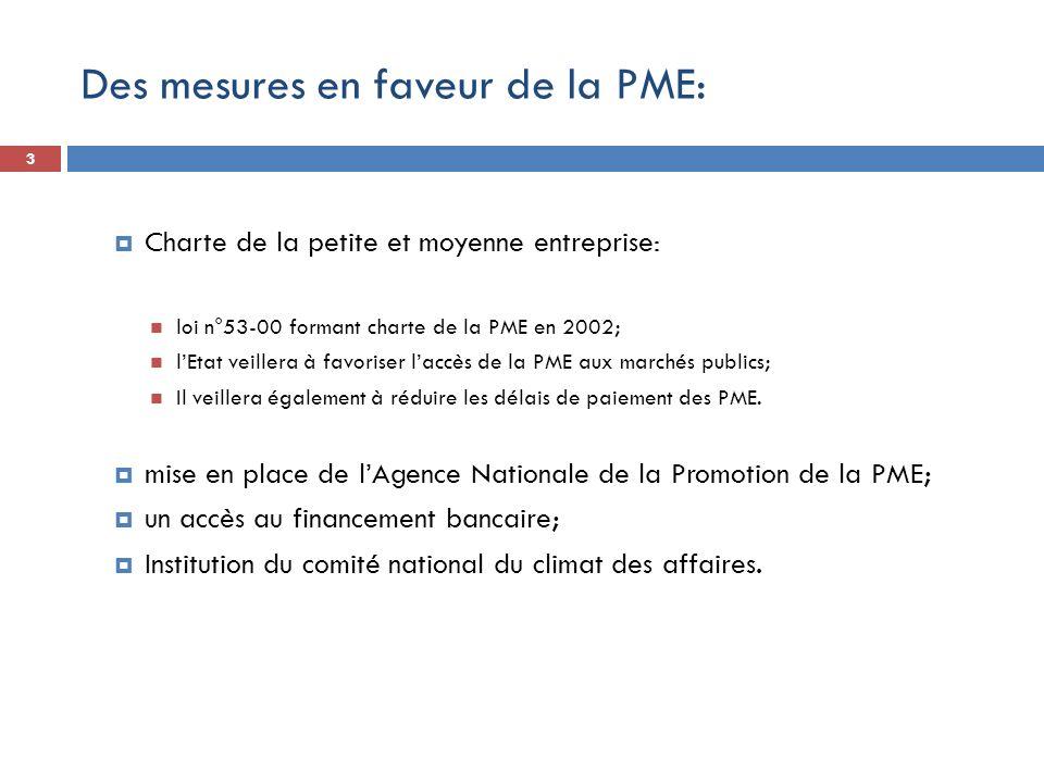 Des mesures en faveur de la PME: