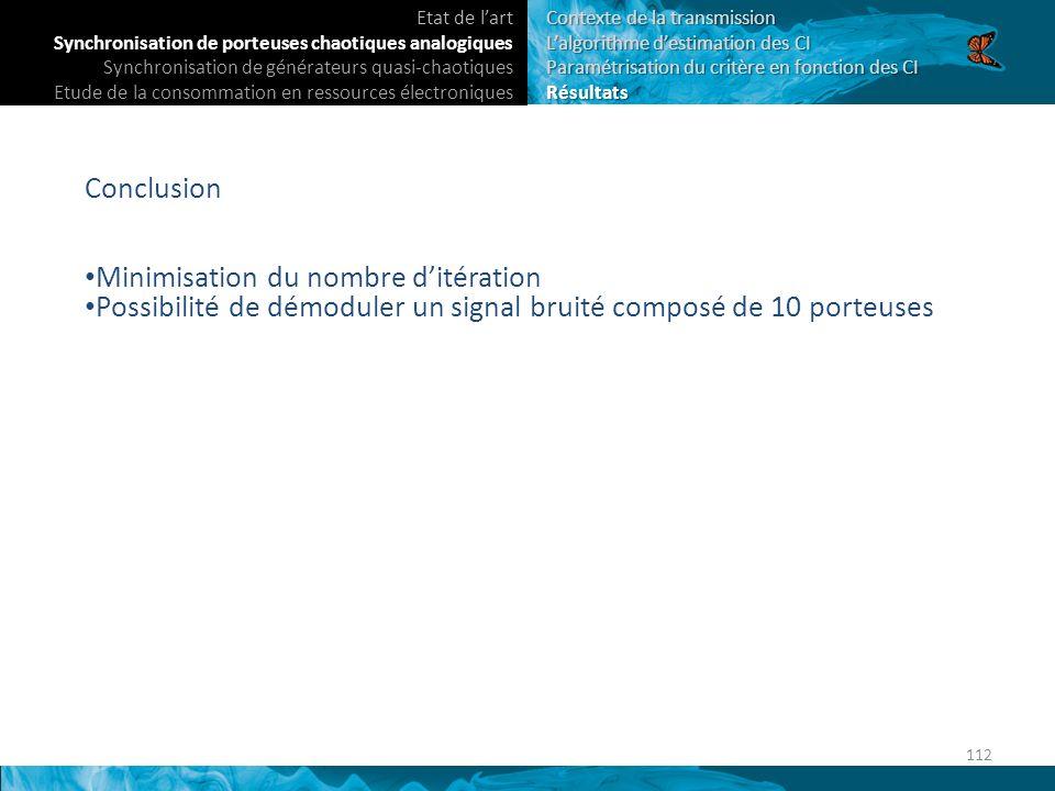 Minimisation du nombre d'itération
