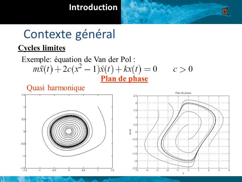 Contexte général Introduction Cycles limites