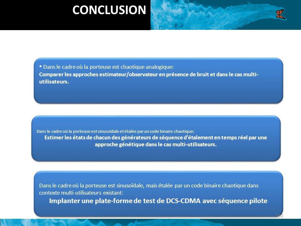 Implanter une plate-forme de test de DCS-CDMA avec séquence pilote