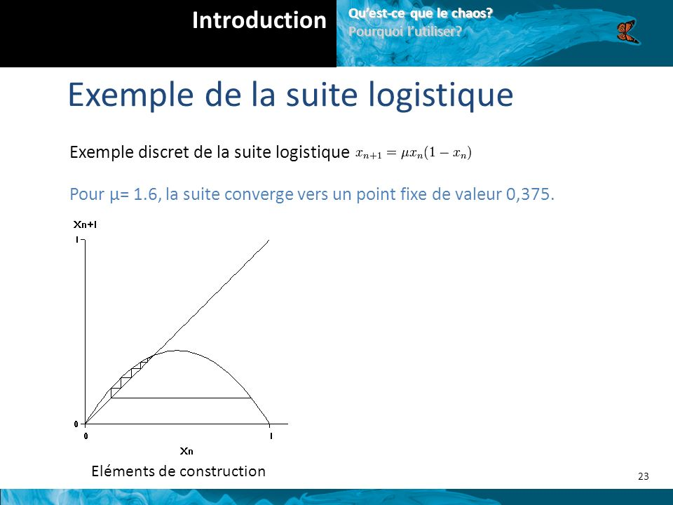 Exemple de la suite logistique