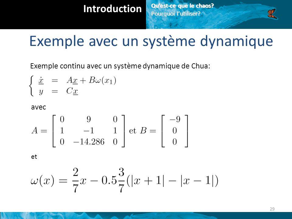 Exemple avec un système dynamique