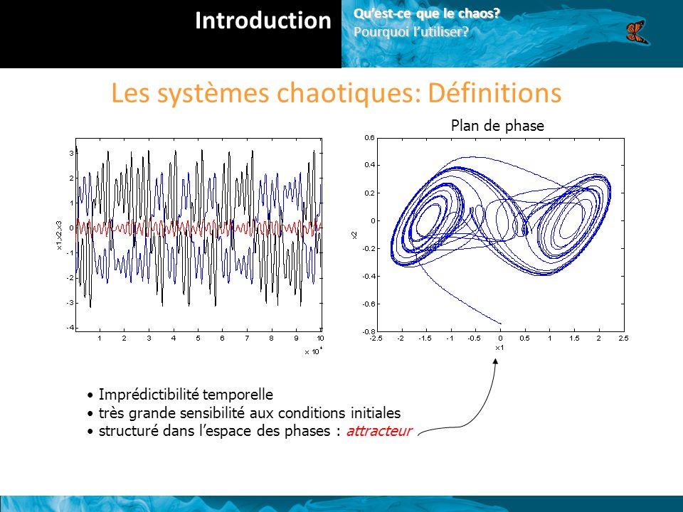 Les systèmes chaotiques: Définitions