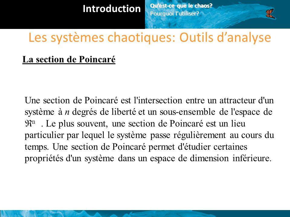 Les systèmes chaotiques: Outils d'analyse