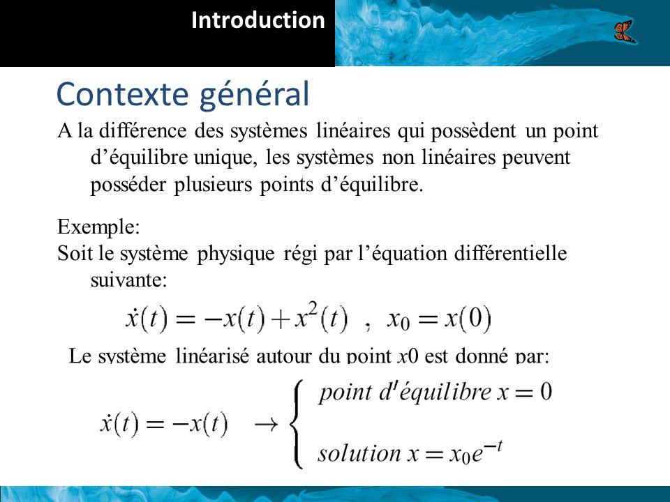 Contexte général Introduction