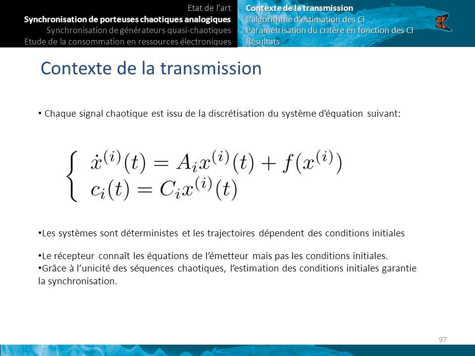 Contexte de la transmission