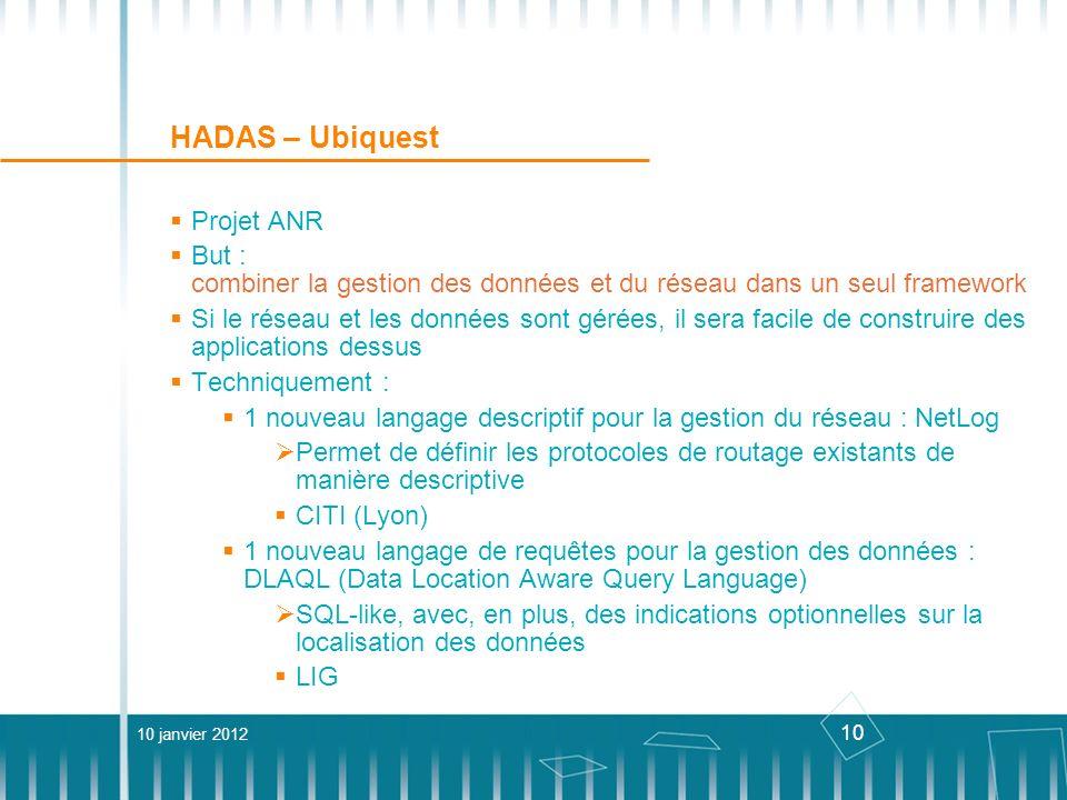 HADAS – Ubiquest Projet ANR