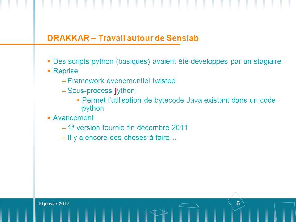 DRAKKAR – Travail autour de Senslab