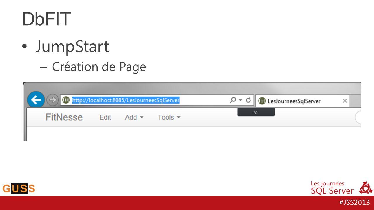 DbFIT JumpStart Création de Page
