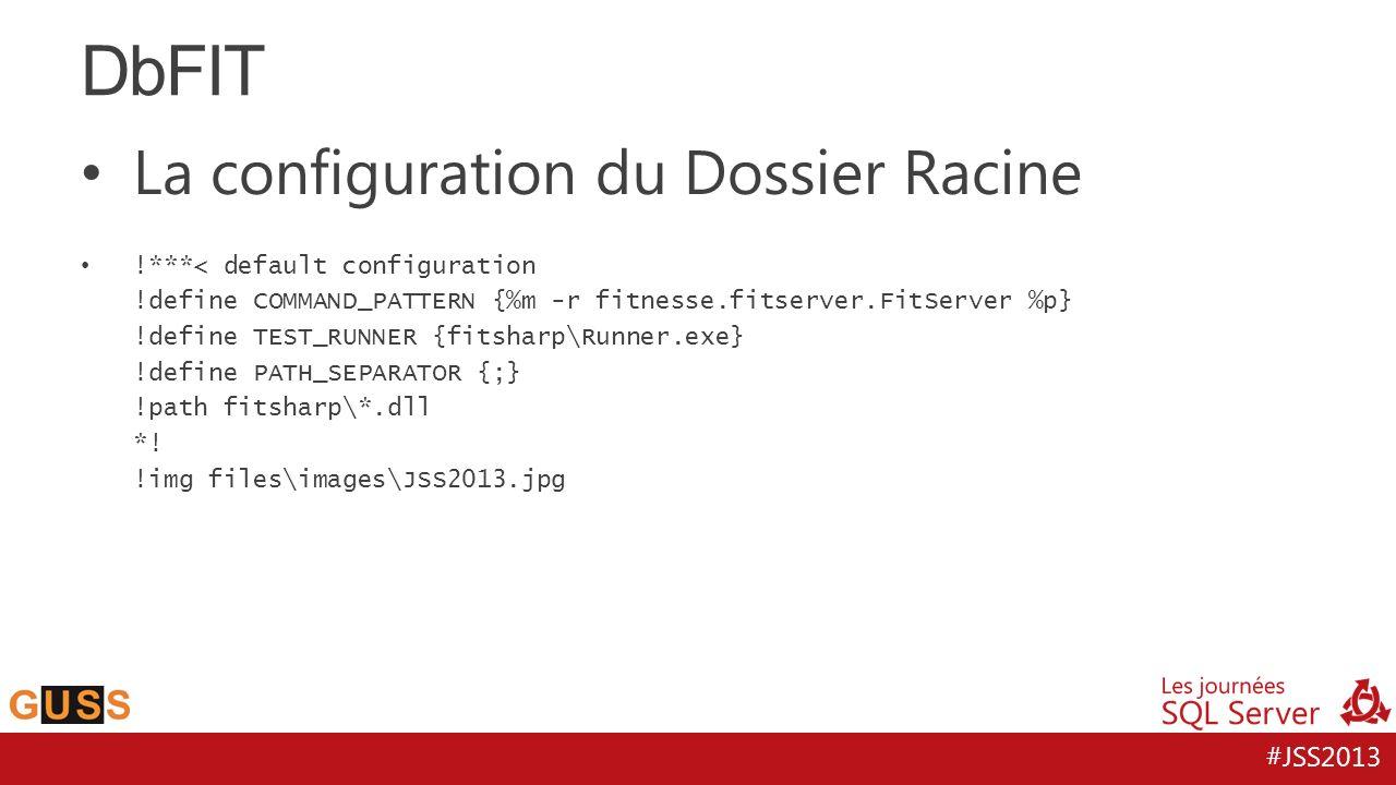 DbFIT La configuration du Dossier Racine