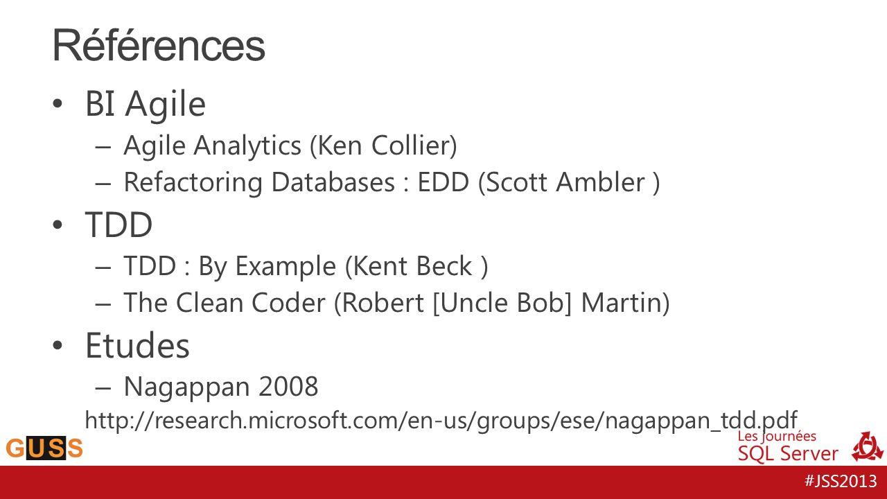 Références BI Agile TDD Etudes Agile Analytics (Ken Collier)