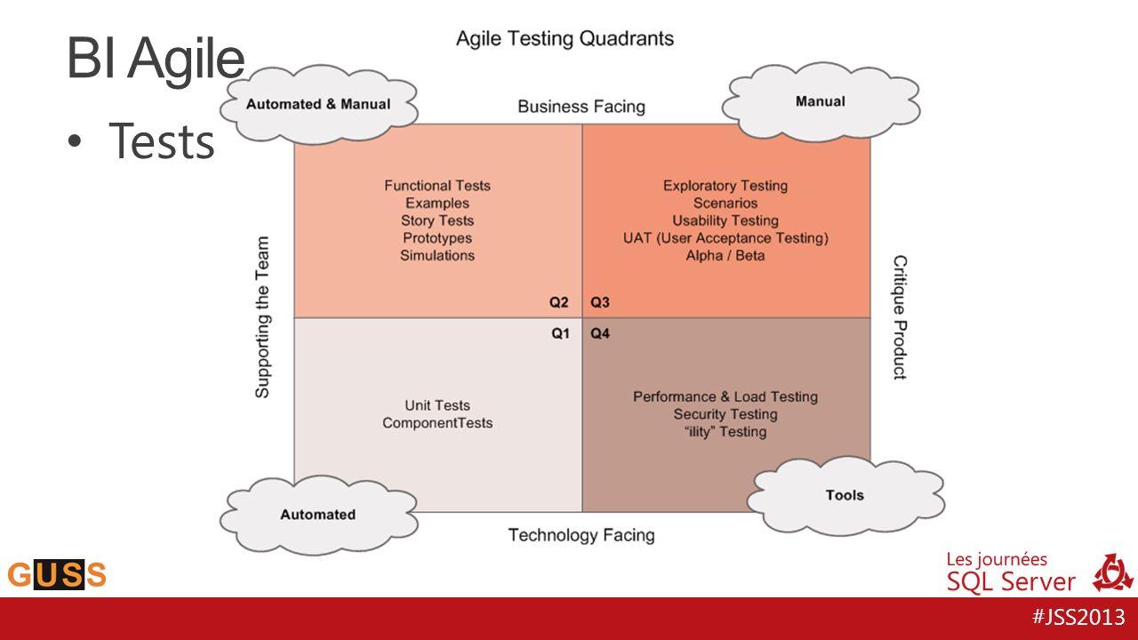 BI Agile Tests Q1 : environnement Développeur vue précédement