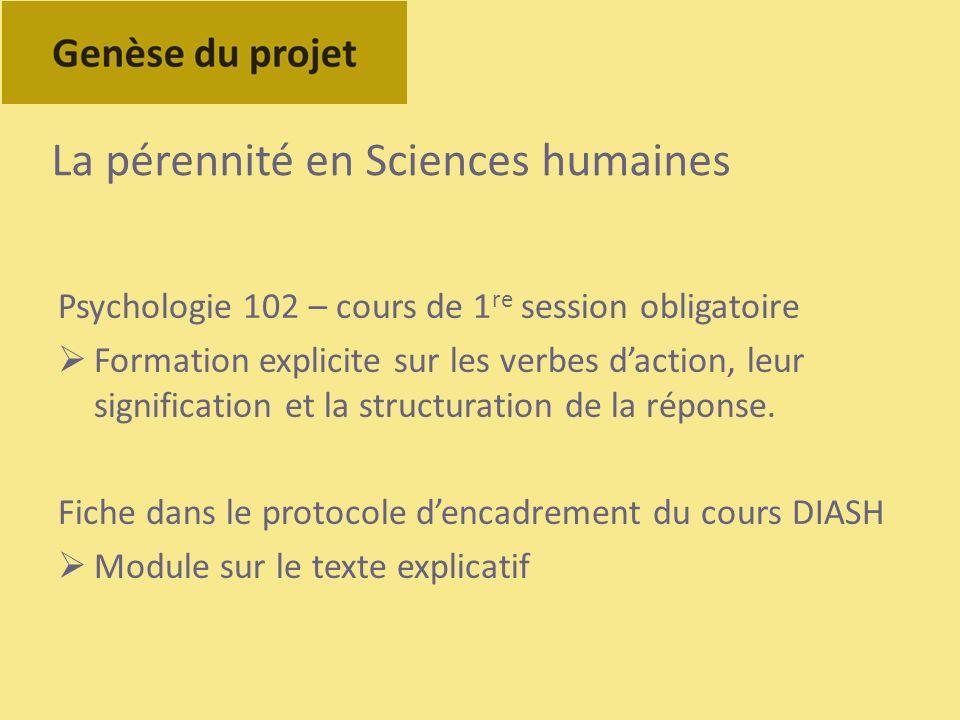 La pérennité en Sciences humaines