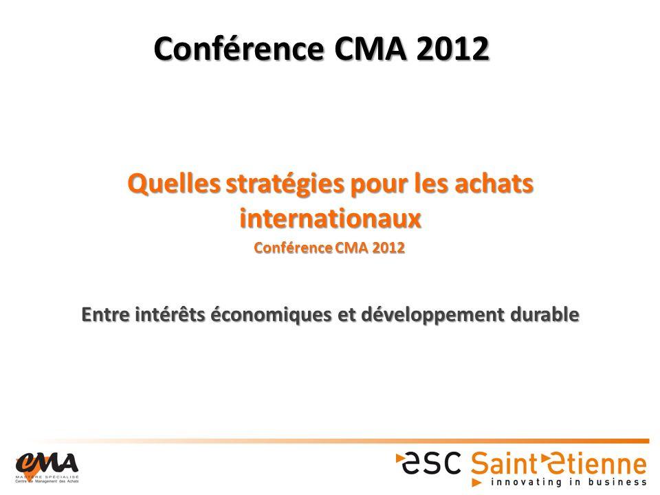 Quelles stratégies pour les achats internationaux