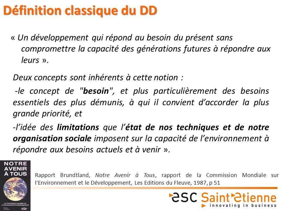 Définition classique du DD