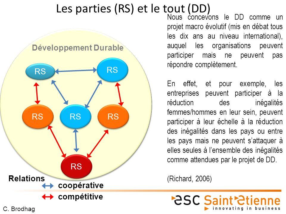 Les parties (RS) et le tout (DD)