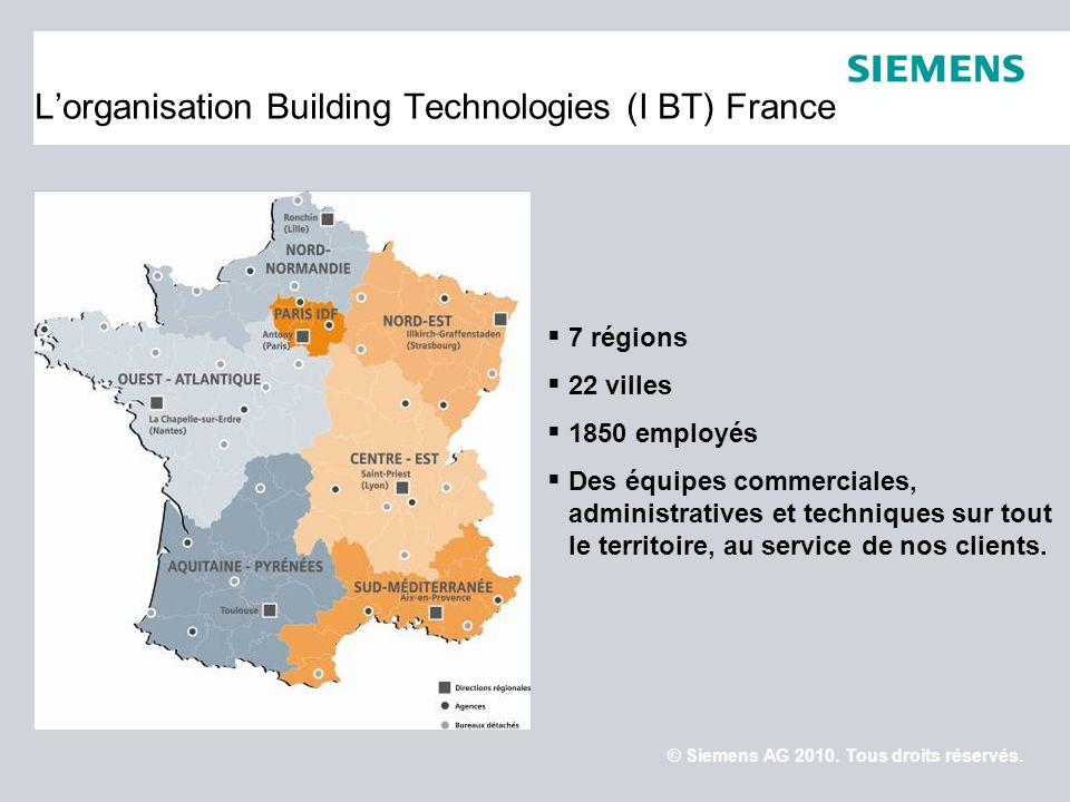 L'organisation Building Technologies (I BT) France