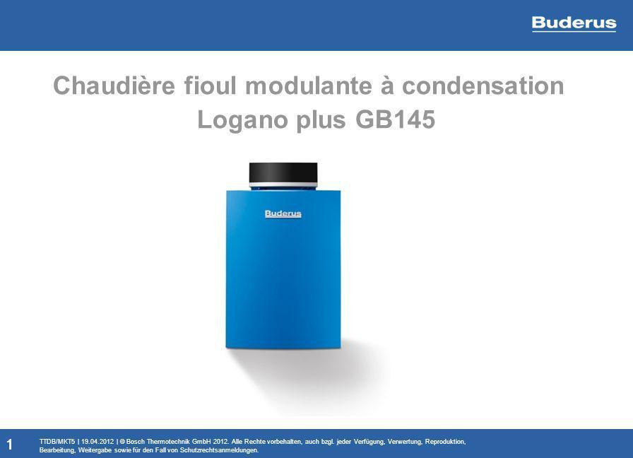 Chaudière fioul modulante à condensation Logano plus GB145