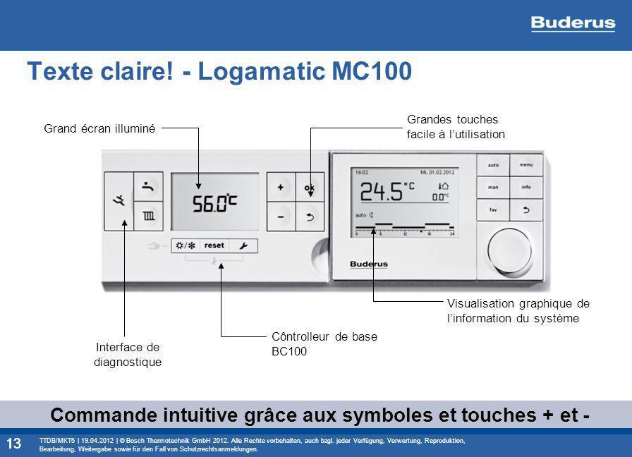 Texte claire! - Logamatic MC100
