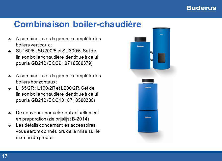 Combinaison boiler-chaudière