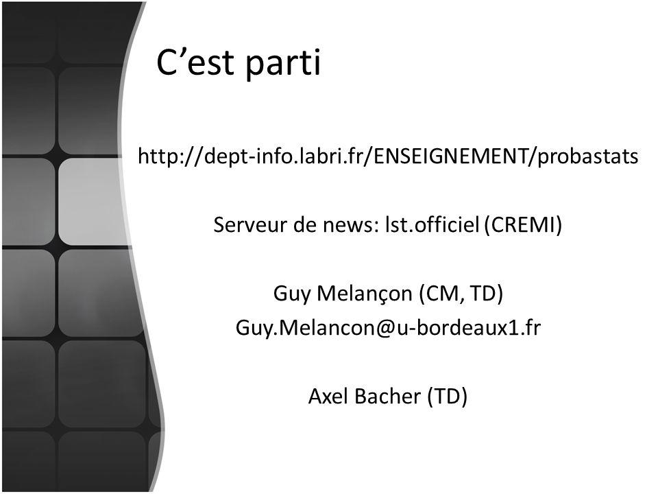 Serveur de news: lst.officiel (CREMI)