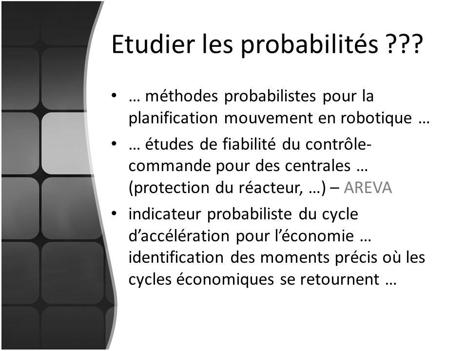Etudier les probabilités