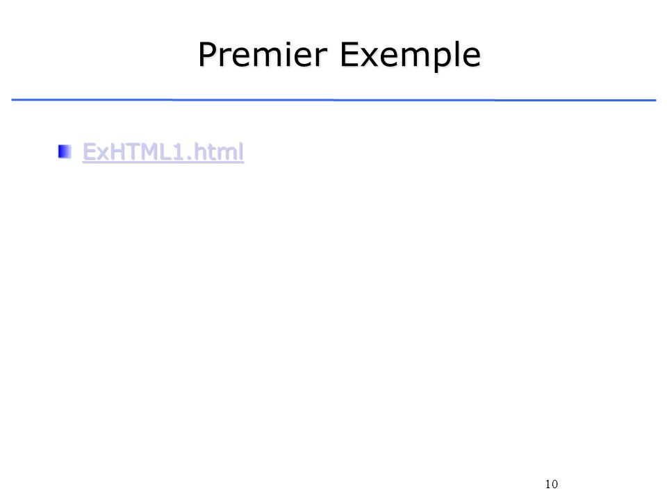 Premier Exemple ExHTML1.html