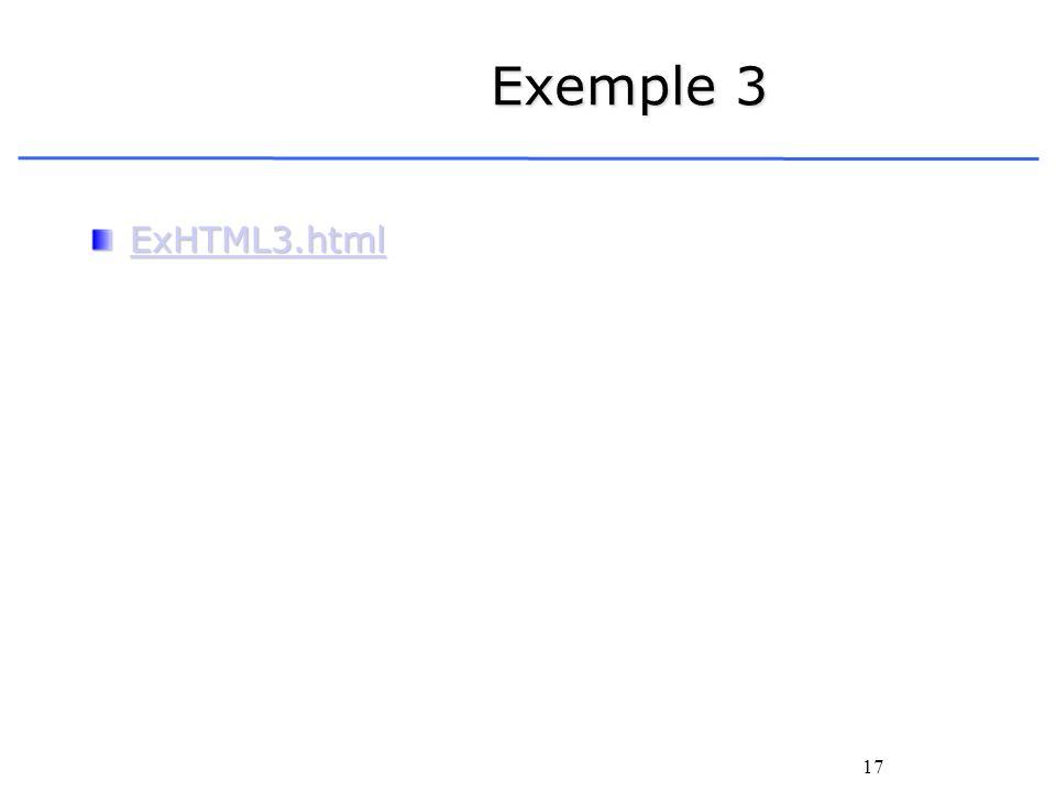 Exemple 3 ExHTML3.html
