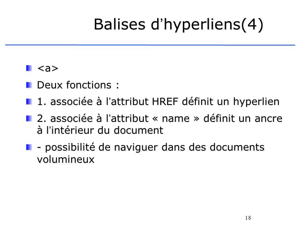 Balises d'hyperliens(4)