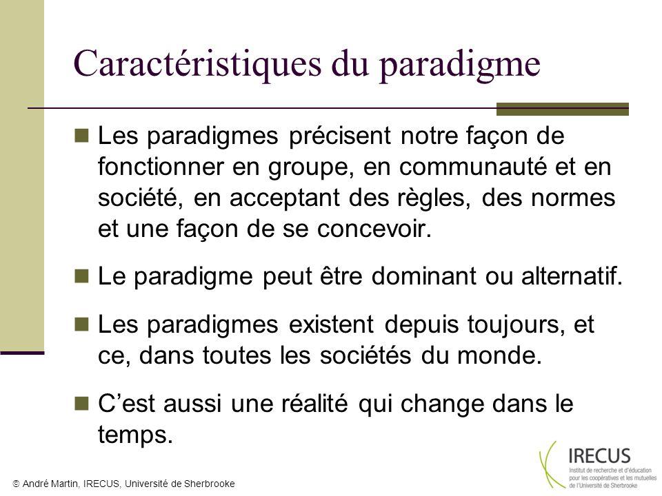 Caractéristiques du paradigme
