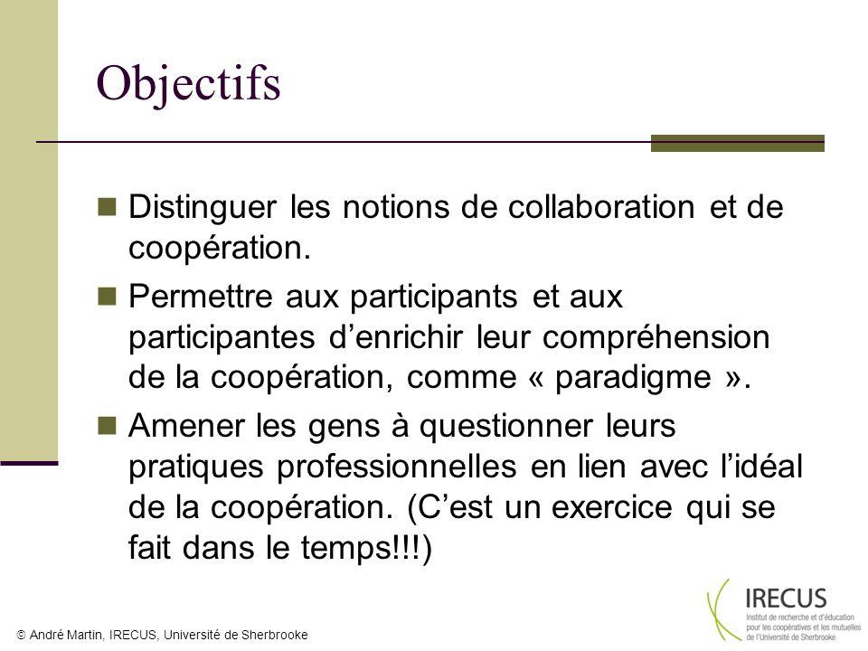 Objectifs Distinguer les notions de collaboration et de coopération.