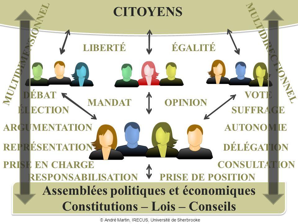 Assemblées politiques et économiques Constitutions – Lois – Conseils