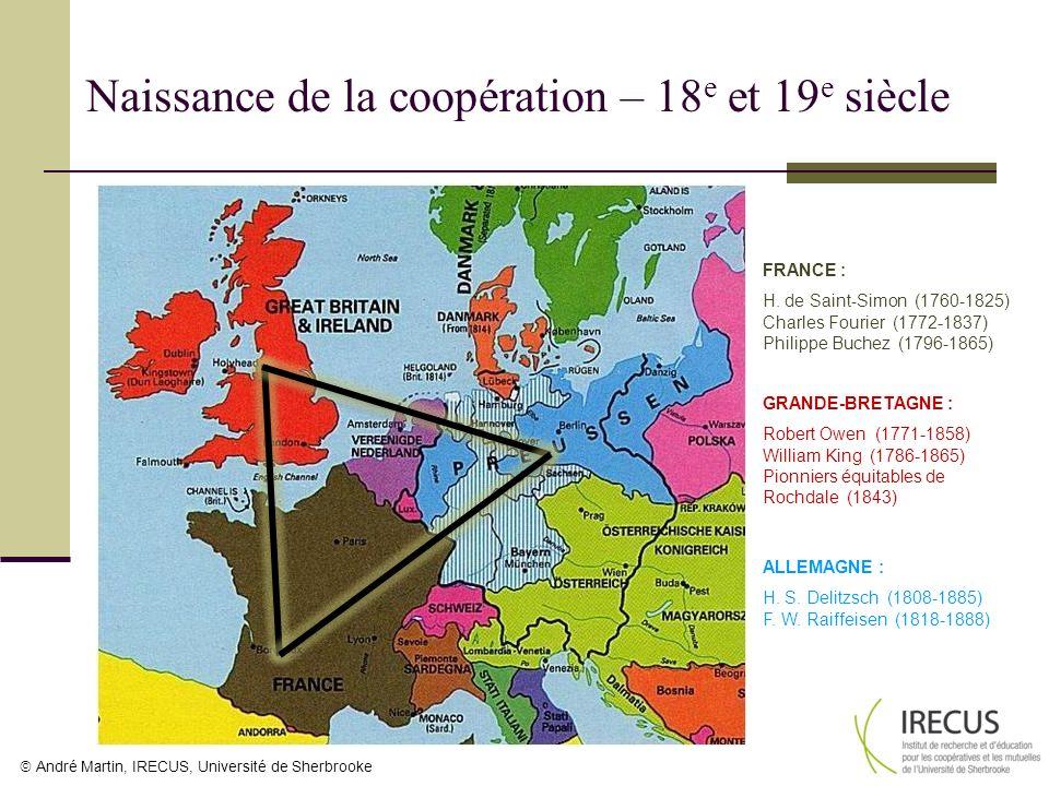 Naissance de la coopération – 18e et 19e siècle