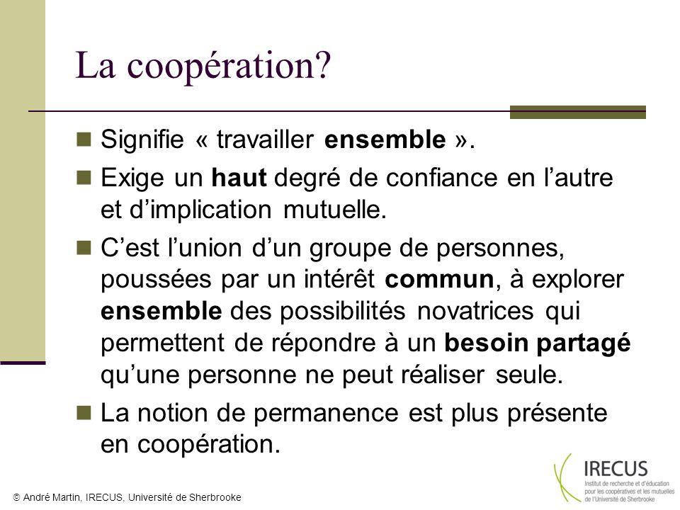 La coopération Signifie « travailler ensemble ».