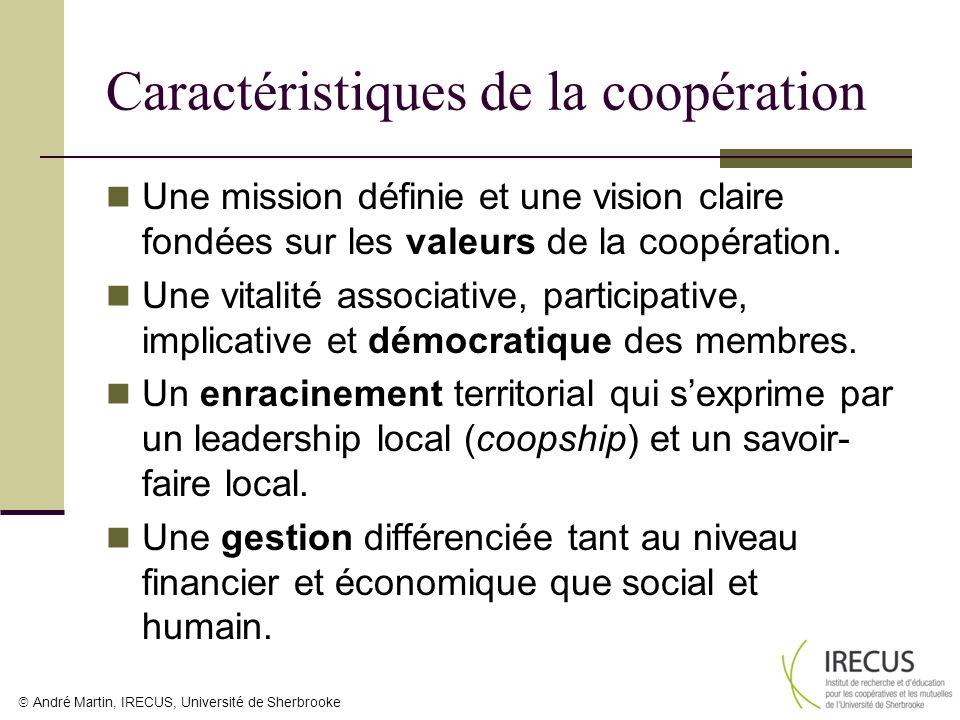 Caractéristiques de la coopération