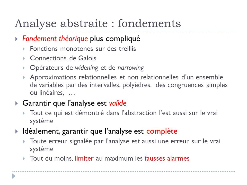 Analyse abstraite : fondements