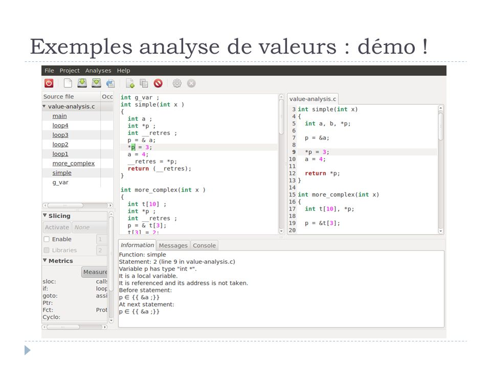 Exemples analyse de valeurs : démo !