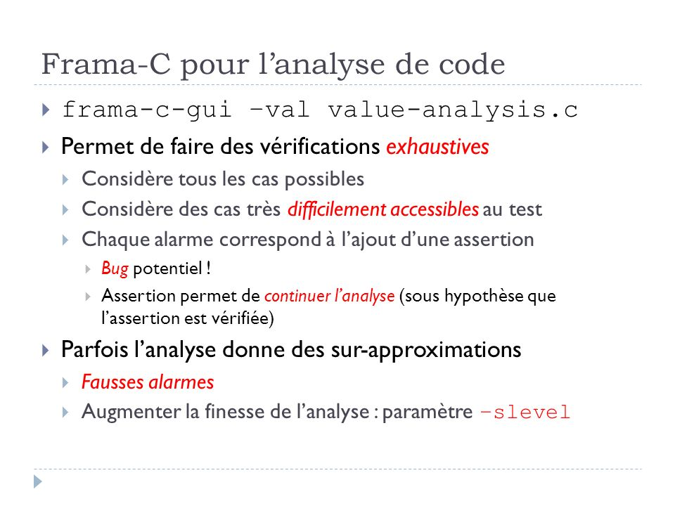 Frama-C pour l'analyse de code