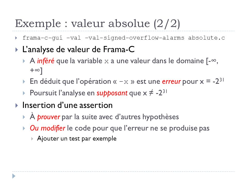Exemple : valeur absolue (2/2)