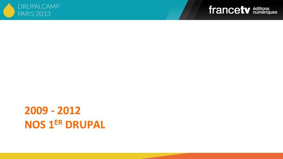 2009 - 2012 NoS 1er DRUPAL Slide 14