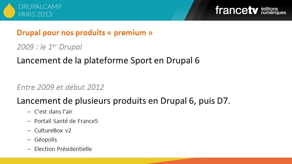 Drupal pour nos produits « premium »